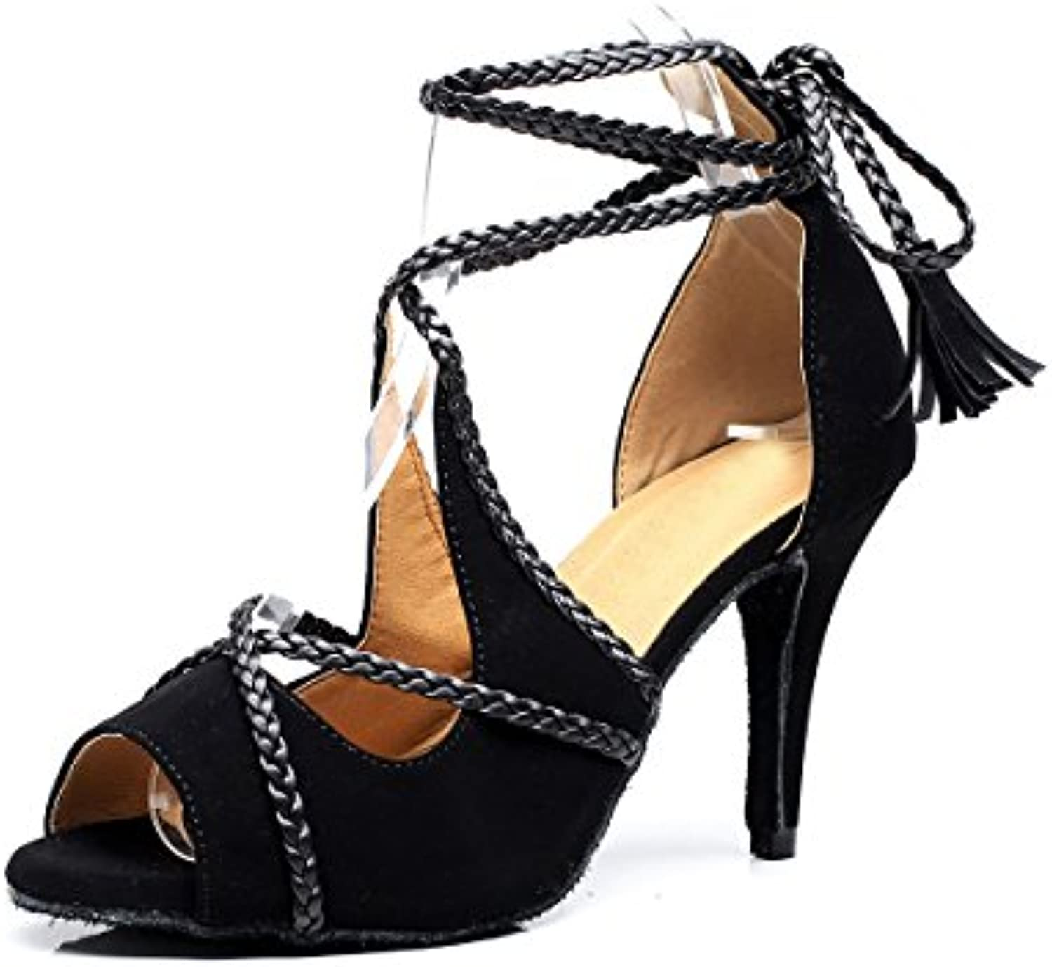8b2baceb7816fc Minitoo Ladies Tassel String Tie Suede Latin Ballroom Dancing Shoes Shoes  Shoes Evening Prom Sandals Parent B071RN9XMB f35621