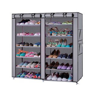 HOUZIE 12 Shelf Shoe Organizer Cum Cloth Cabinet (Assorted Colour)