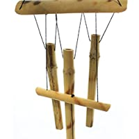 Vento 7,6x 58,4cm da appendere, in legno di bambù, tubi Outdoor campane decorazione per giardino. (Rose Garden Di Bambù)