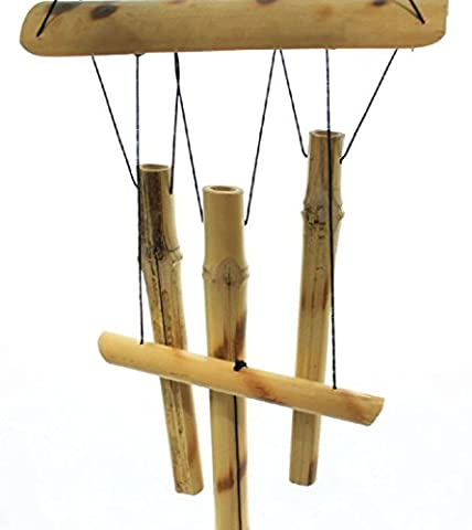 58,4cm à suspendre en bois de bambou Wind Chimes cloches de tubes extérieur Décoration de jardin.