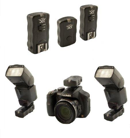 Neu: JJC Profi Funk Fernauslösesystem für Kamera und Blitzgerät - inkl. Adapter für Studioblitzanlagen für Nikon Df, D90(s), D600, D610, D700, D750, D3100, D3200, D3300, D5000, D5100, D5200, D5300, D7000, D7100, P7700, P7800 - Kompatibel mit dem Anschluss Nikon MC DC-2