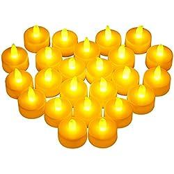24 Velas LED de 4cm de Diámetro y 2cm altura
