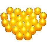 VicTsing 24 Velas LED, Tiene una Autonomía de 100 Horas y las Velas son de 4cm de Diámetro y 2cm, Tendrán un Ambiente Adecuado y Elegante para la Celebración Estacional y del Festival