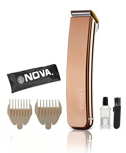 Nova NHT 1044 Titanium Coated Cordless Trimmer for Men Gold