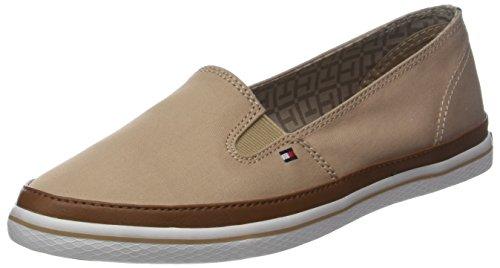 Tommy Hilfiger Damen Iconic Kesha Slip On Sneaker, Beige (Desert Sand 932), 39 EU