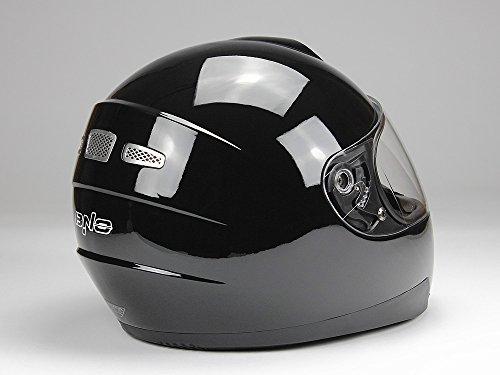 Integralhelm Motorradhelm Helm BNO F500 erschiedene Farben (XS,S,M,L,XL,XXL) (XXL, Schwarz glänzend) - 4