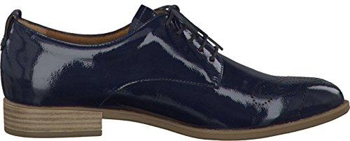 Tamaris , Chaussures à lacets et coupe classique femme Navy Patent