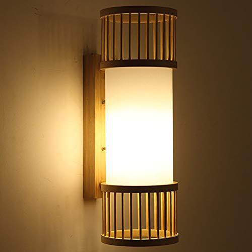 String-kronleuchter Schatten (Moklo Bambus Wandleuchte, handgemachte Bambus Wandleuchte, kreative Laterne Lampenschirm Lichter mit E27 Fassungen (ohne Lampen))