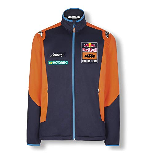 Red Bull KTM Official Teamline Giacca Softshell, Blu Uomini XX-Large Giacca a Vento, KTM Factory Racing Abbigliamento & Merchandising Uff