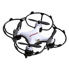 Idea Regalo - Virhuck GB202 Mini RC Drone, 2,4 GHz, 6 Assi giroscopico, modalità 3 velocità, Rotazione 3D, 360-gradi Eversion Quad Drone Mini Quodcopter Helicopter Drone per Bambini e Principianti - Bianco