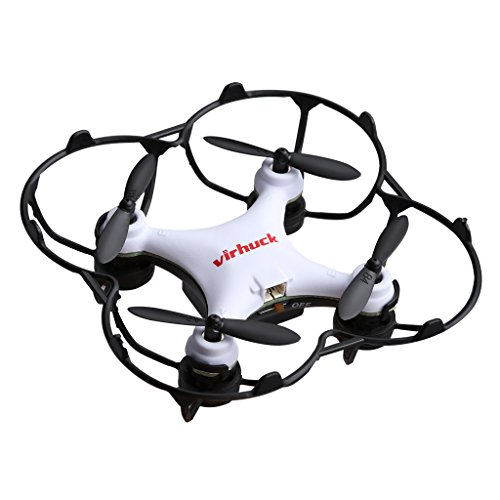 virhuck-GB202-Mini-Pocket-Quadcopter-Drone-24-GHz-6-Axis-Gyro-3-Modo-de-Velocidad-3d-giratorio-360-grados-eversion-Quad-Drone-Mini-drhne-para-nios-y-principiantes–Blanco-Negro-Rojo