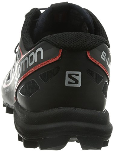 Salomon S-Lab Speed, Chaussures de Running Compétition Mixte Adulte Multicolore (Black/Black/Racing Red)