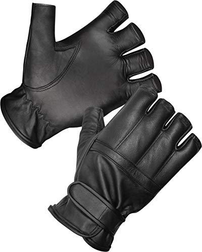 normani Blei Handschuhe ohne Finger aus Rindsleder/Security Sommer Handschuhe S-3XL Größe L