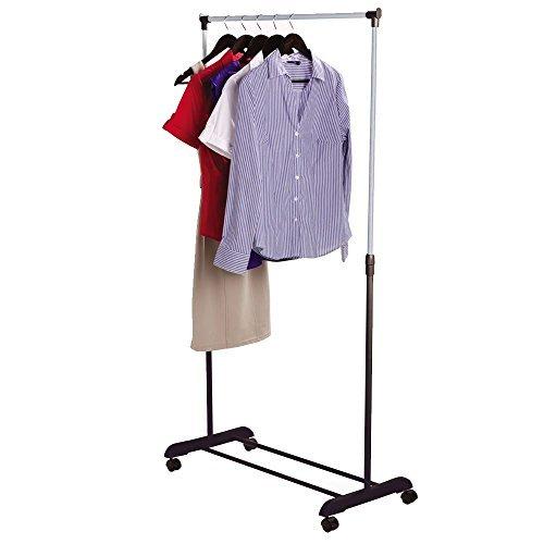 Home Discount Perchero ajustable ropa Rail, Plata entrega gratuita