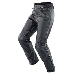 SPIDI New Naked Pantalones de Cuero para Moto, Negro, 46