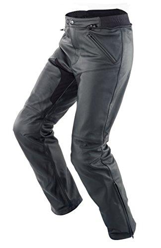 SPIDI - Pantaloni da Moto in Pelle New Naked, Nero, 54