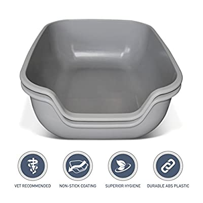 PetFusion BetterBox LARGE Litter Box. STRONGER ABS plastic. NON-STICK COATING for superior hygiene & easier cleaning