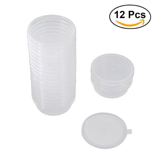 ULTNICE Contenitori di immagazzinaggio a sfera di schiuma da 12 pezzi con coperchi Container di Slime per 20g Slime