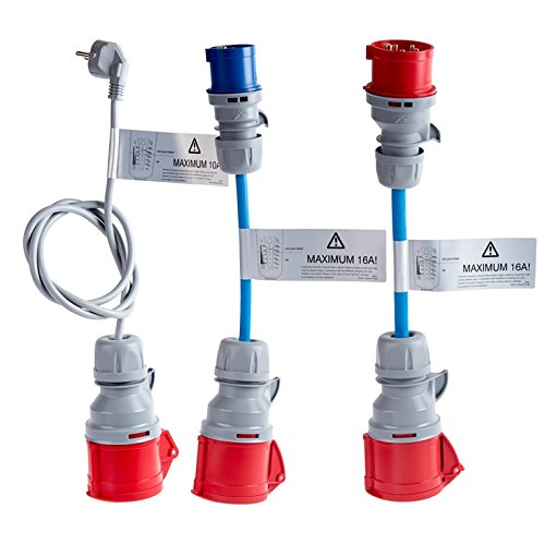 Adapterset für Proteus-NRGkick Typ 2 - Ladekabel für Elektroauto Proteus-NRGkick 32 und NRGkick 32 light, Notladekabel 230 Volt Schuko, 230 Volt CEE, 400 Volt CEE 16A