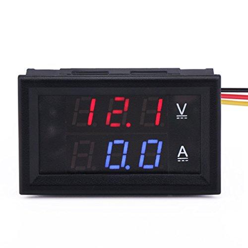 Droking DC 30V Voltmeter 0-50A Amperemeter Digital-Volt Ampere Strom Panel Meter 2in1 Digital Meter, Dc Ampere