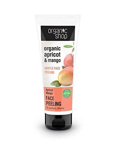 ORGANIC SHOP- Masque Peeling pour le Visage Apricot et Mangue - Avec Acide Glycolique,Beurre de Mangue et Huile d'Apricot - Pour les peaux mixtes et impures - 75 ml