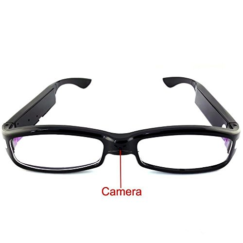 Electro-Weideworld - 1080P HD Cámara Espía Gafas Oculta Gafas de Cámara Mini DV Videocámara Detección de Movimiento Grabadora de Audio