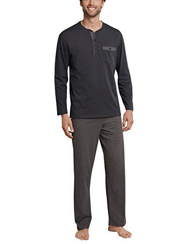 Schiesser Herren Zweiteiliger Schlafanzug Anzug Lang Grau (Anthrazit 203), X-Large (Herstellergröße: 054)