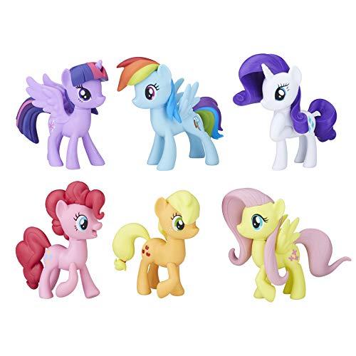 My little Pony E1970erfüllen die Mähne 6Ponys Collection, Multi Farbe