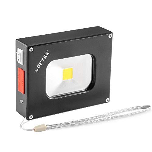 LOFTEK Scheinwerfer LED Handlampe Akku-Flutlichtstrahler 6w 4000mAh wiederaufladbare wasserdicht Flutlicht (schwarz) (Akku-scheinwerfer)
