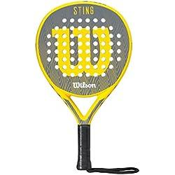 Wilson Sting Paddle RKT YEBKWH - Pala de pádel, color amarillo / negro / blanco, talla única