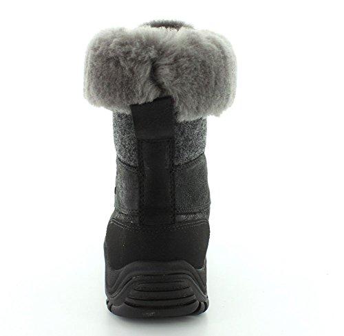 Ugg Australia Womens Adirondack II Leather Boots Black