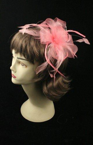 Looped nastro & Net Fascinator su pettine, colore: 7786