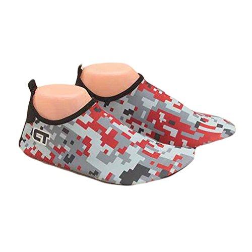 Kreative Wasser Schuhe Sandalen Sommer Strand Schuhe Bademode Yoga Schuhe Grau / rot