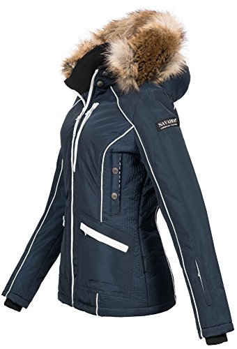 Navahoo Damen Winter Jacke Outdoor Winterjacke warm gefüttert Parka B649 Navy