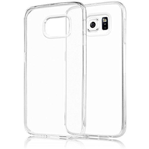 NALIA Funda Carcasa para Samsung Galaxy S6 Edge, Protectora Movil Silicona Ultra-Fina Gel Transparente, Cubierta Estuche Goma Bumper Cover, Cobertura Delgado Case Claro Cristal para Telefono S6-Edge