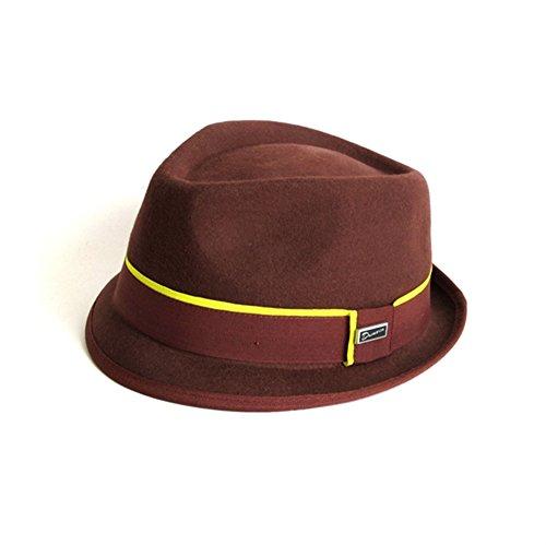 Dasmarca-Collection Hiver-Chapeau de Feutre Orange brûlé Trilby-Addison-L