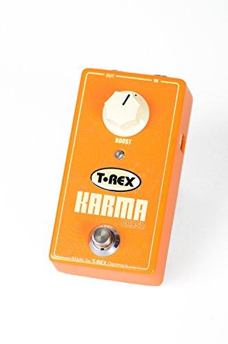 T-Rex KARMA-BOOST - Pedal de distorsión para guitarra, color naranja