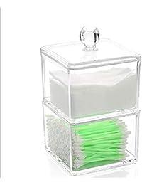 Productos de almacenamiento doméstico Organizador transparente de acrílico del tenedor del envase del cojín de algodón