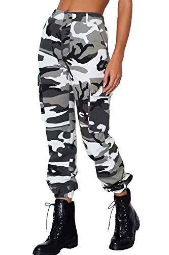 Lantch Damen Hosen Camouflage Casual Jogginghose Sporthose Military Freizeithose Streetstyle(ga,s)