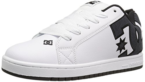 DC Shoes Court Graffik, Chaussures de skate homme White Smooth