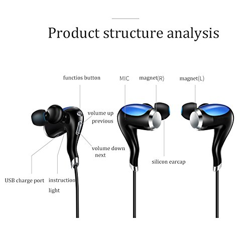 RASU Most awaited Bluetooth Earphone with feature of Voice Clarity ||Sweat Proof ||Premium Look||Professional Bluetooth 4.1 Wireless Stereo Sport Headphones Headset Compatible with your Micromax Canvas Turbo Mini A200 [[X12 (BLUE)5697]]  available at amazon for Rs.1299