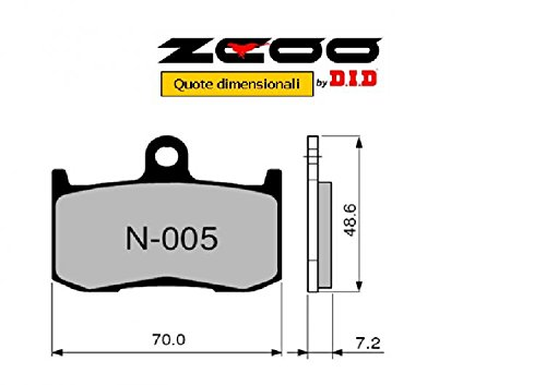 45N00500 PASTIGLIE FRENO ZCOO (N005 EX) KAWASAKI Z 800 ABS BDS - ADS - E ABS DDS (ZR800) 2013- (ANTERIORE)
