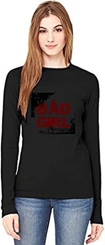 Bad Girl Long-Sleeve T-shirt For Women  100% Premium Cotton  DTG Printing  Unique & Custom Robes, Skirts, Vests & Women's Fashion Clothing by Wicked Wicked XX-Large