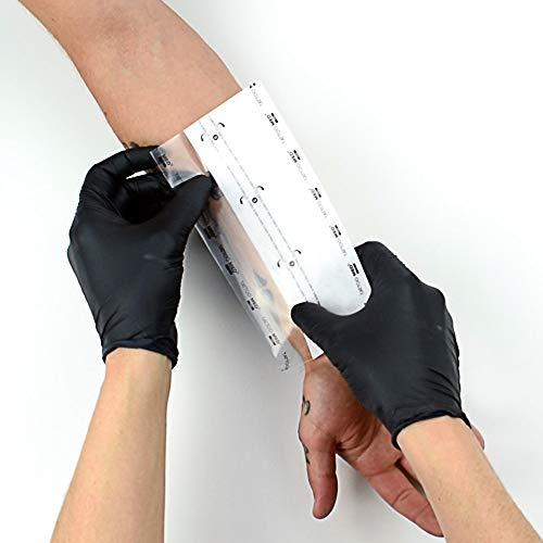 TattooMed Tattoo Protection Patch 2.0 - Transparente Atmungsaktive Hautschutzauflage für Tätowierte Haut - Einzelnd Verpackt (1 x 10 Stück)