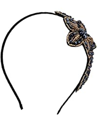 BONAMART ® Retro Elegant Kristall Perle Haarband Geflochten Blumen Damen 24890