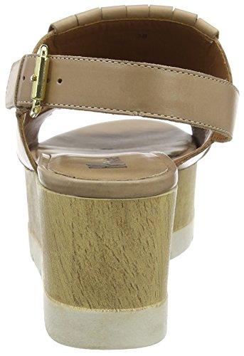 BPrivate E1309x, Sandales ouvertes à talon compensé femme Beige - Beige (Naturale)