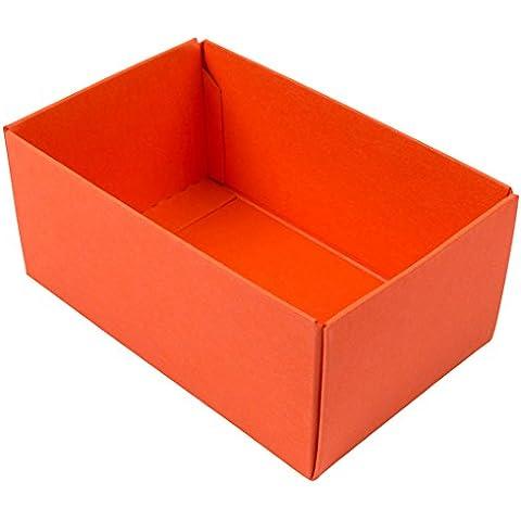Buntbox caja de regalo, 1 x base, extra grande, 34 x 22 x 11,5 cm, Naranja