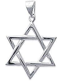 Colgante de estrella de David en plata 925 Neuf