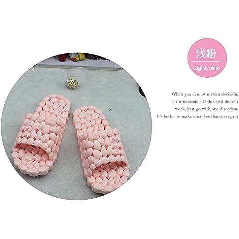 Bagno doccia pantofole perdite pattino resistente Piscina Home uomini e donne estate pantofole rosa pallido (1.5 Pvc Slittamento)