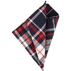 Andrews & Co. Pañuelo de tela escocesa Azul marino Blanco Rojo